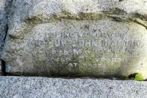 Arthur John Martin's headstone at Syderstone Church