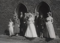 Wedding in 1959 - Cardiff